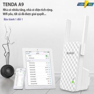 Bộ kích sóng wifi Tenda trong 1 nốt nhạc, nối sóng Wifi Tenda A9 300Mbps tiêu chuẩn Bộ kích sóng Tenda A9 2 anten Hàng nhập khẩu bảo hành 12 tháng SALE đẫm máu bởi GOOD 365 thumbnail