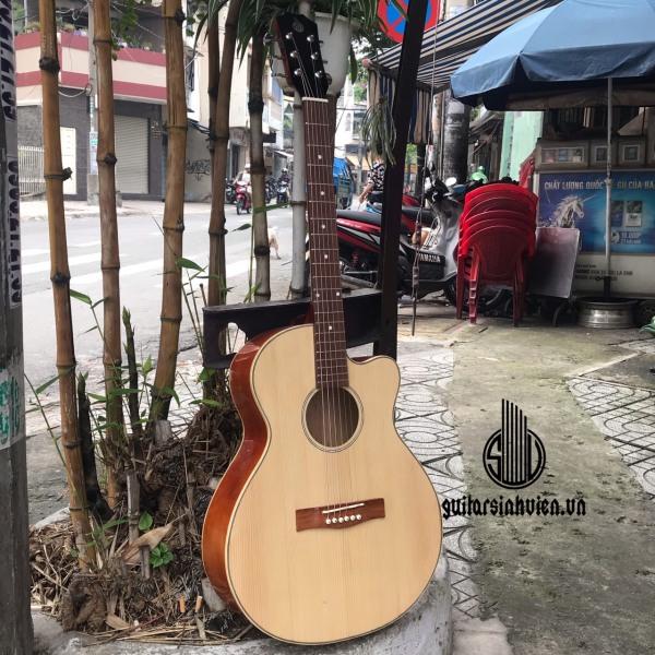 Guitar acoustic SV-A1 cho người mới tập chơi - tặng 7 phụ kiện - Bảo hành 1 năm - đàn dây sắt chuyên cho đệm hát