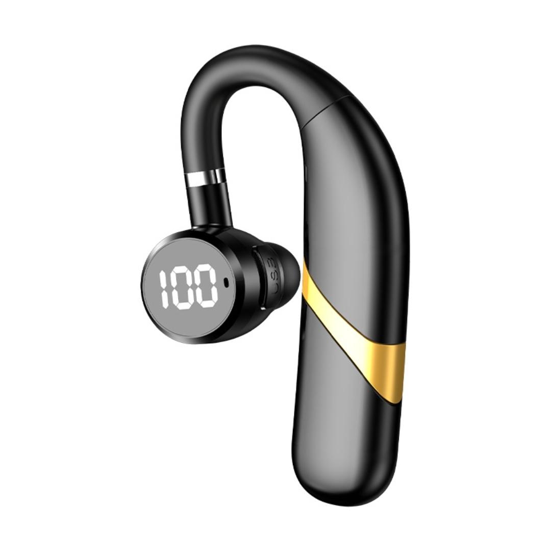 Tai nghe bluetooth cảm ứng không dây 5.0, xoay 180 độ Led báo % Pin, chống nước IPX7, Pin 300mAh, nghe nhạc, đàm thoại liên tục từ 20 giờ - 40 giờ  tùy theo mức âm lượng ,tặng kèm tai nghe phụ.