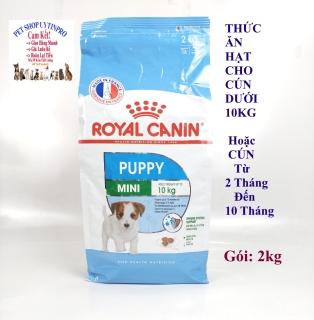THỨC ĂN CHO CHÓ CON Dạng hạt ROYAL CANIN PUPPY MINI Gói 2kg Chế độ dinh dưỡng hoàn chỉnh và cân đối Xuất xứ từ Pháp thumbnail