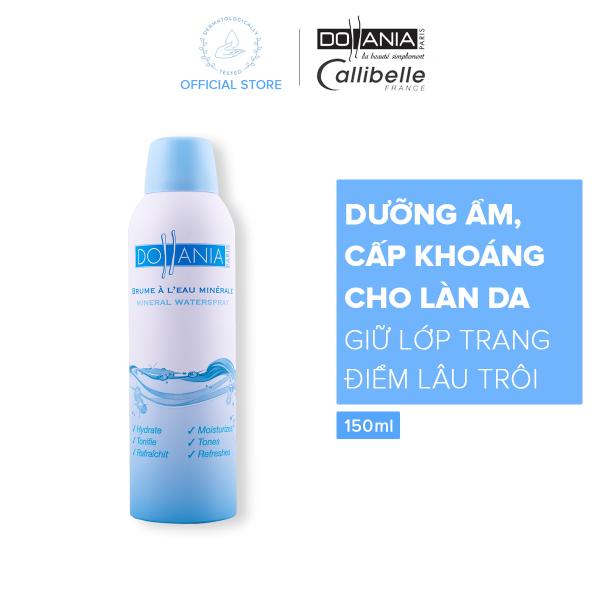 Xịt khoáng Dollania giúp dưỡng ẩm cấp nước và làm dịu làn da Brumisateur Eau Minerale 150ml - Giới hạn 1 sản phẩm/khách hàng giá rẻ