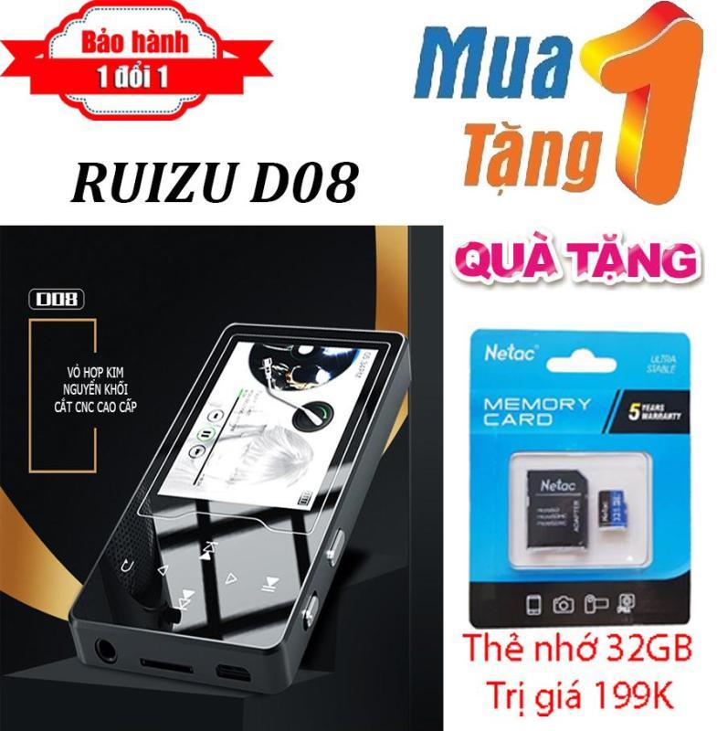 Máy nghe nhạc MP4 màn hình HD 2.4 inches Ruizu D08  + Tặng thẻ nhớ 32g NETAC chất lượng cao - Máy nghe nhạc Lossless chất lượng cao - máy nghe nhạc giá rẻ