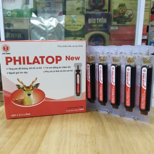 PHILATOP New hộp 20 ống nhựa