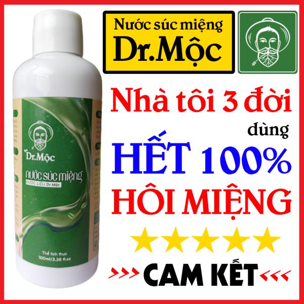Nước Súc Miệng Thảo Dược Hết Hôi Miệng - Nước Xúc Miệng Dr.Mộc (Hết Sâu Răng - Hôi Miệng - Nhiệt Miệng - Viêm Lợi - Viêm Họng) giá rẻ