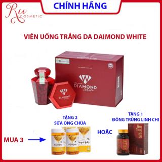 [ KHUYẾN MẠI] HÀNG CHÍNH HÃNG - Viên uống trắng da Ngọc Trinh DAIMOND WHITE, Trắng da chống nắng, nám tàn nhang - MUA 3 TẶNG 2 SỮA ONG CHÚA HOẶC 1 ĐÔNG TRÙNG LINH CHI thumbnail
