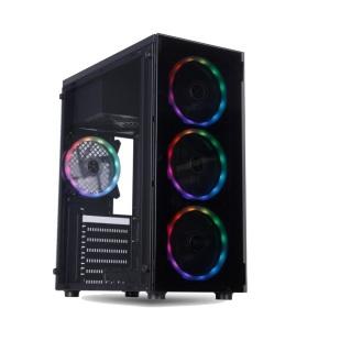 Case Máy tính Aap P07 Có Led RGB mặt hông Kính cường lực cực đẹp hàng cao cấp, Vỏ Thùng máy tính mẫu mới bán chạy thumbnail