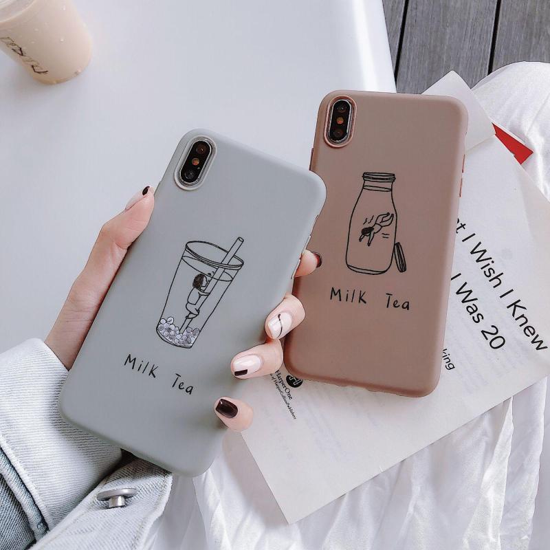 Giá Ốp Lưng iPhone Dẻo MILK TEA ( Từ iPhone 6 đến XS Max ) [ TI STORE ]