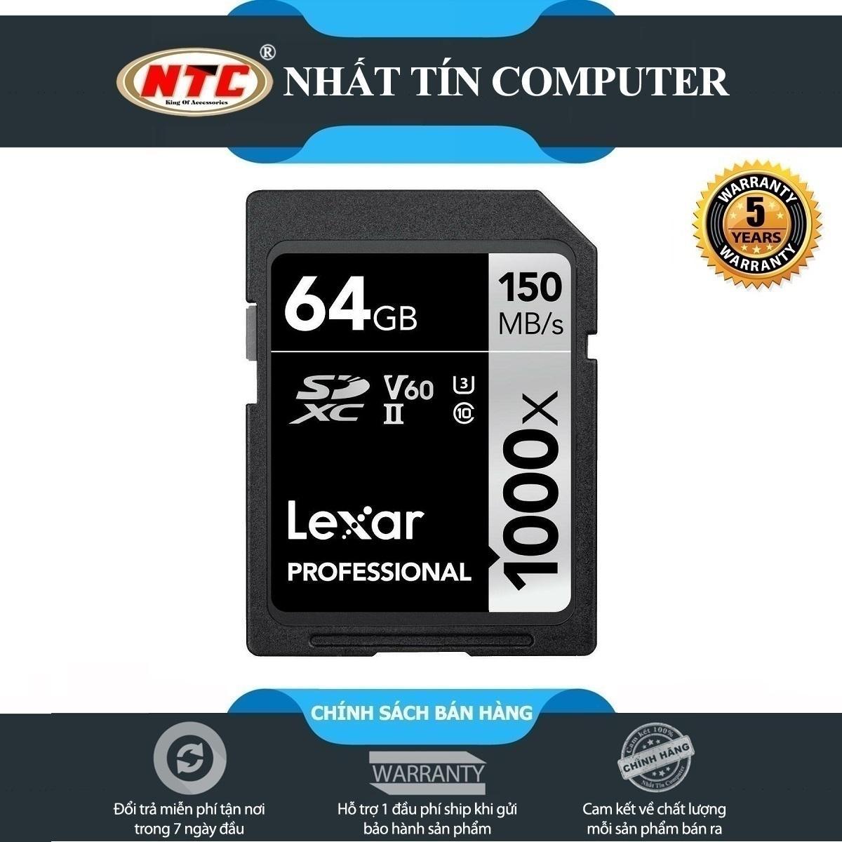 Giá Thẻ Nhớ Sdxc Lexar Professional 64Gb 1000X Class 10 Uhs-Ii U3 V60 150Mb/S (Đen)