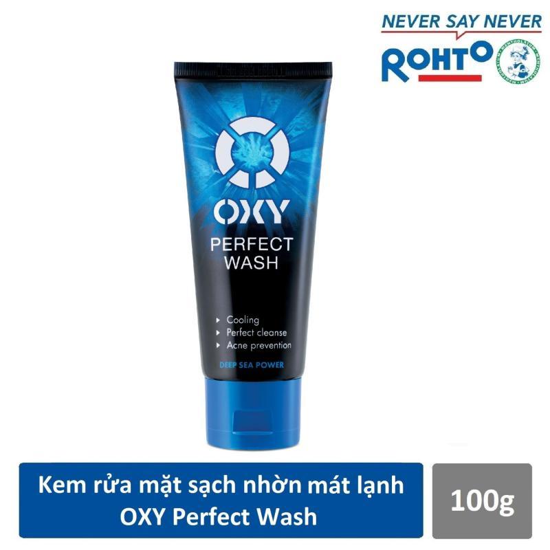 Sữa rửa mặt sạch nhờn mát lạnh OXY Perfect Wash 100g