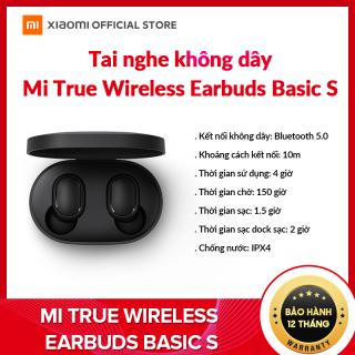 [XIAOMI OFFICIAL] Tai nghe không dây Xiaomi Mi True Wireless Earbuds Basic S - Kết nối Bluetooth 5.0, Chống nước IPX4, pin lên đến 4h, giảm tiếng ồn - BH Chính hãng 12 tháng thumbnail