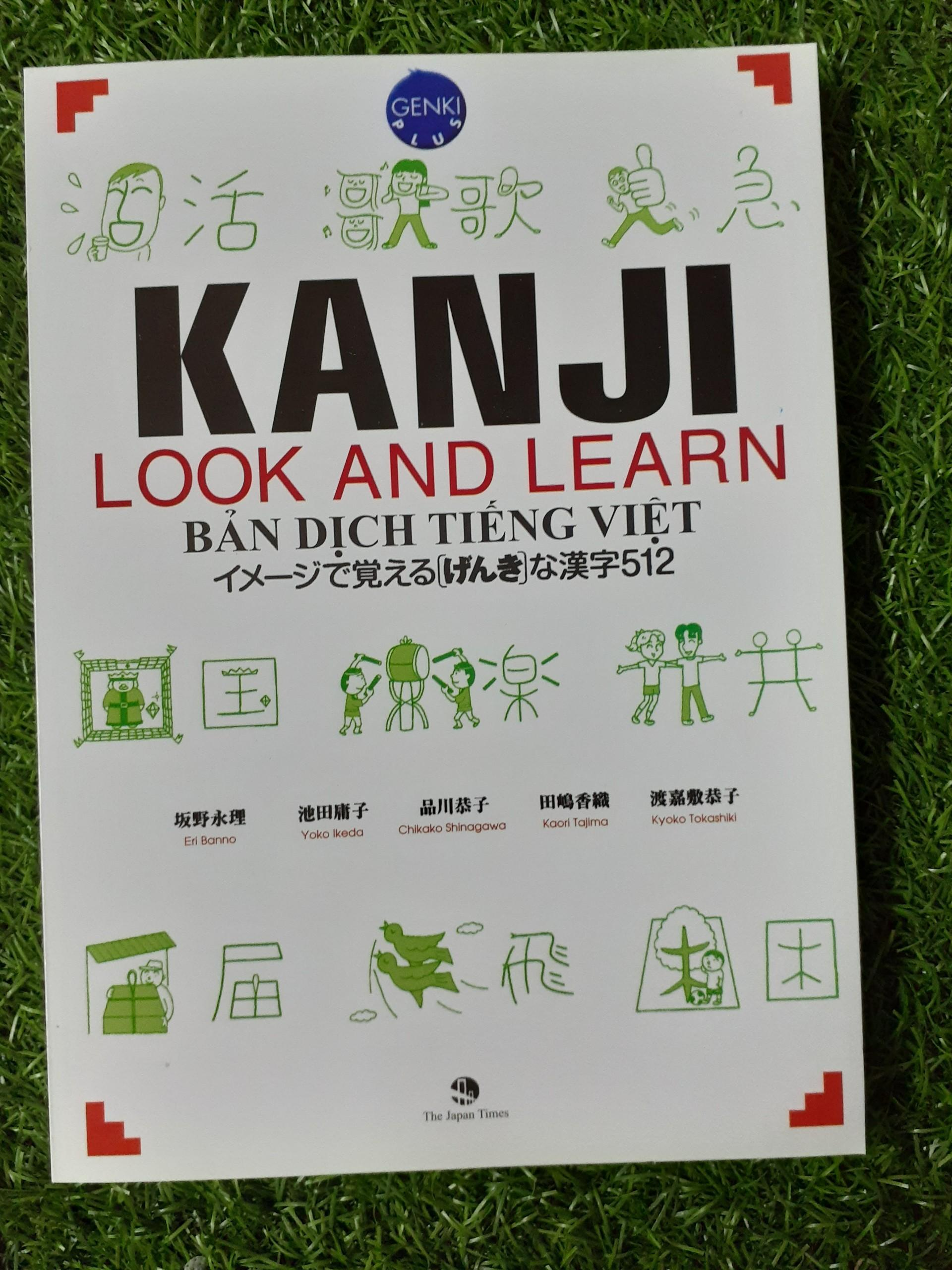 Sách Kanji Look And Learn 512 Chữ Hán Giá Cực Ngầu