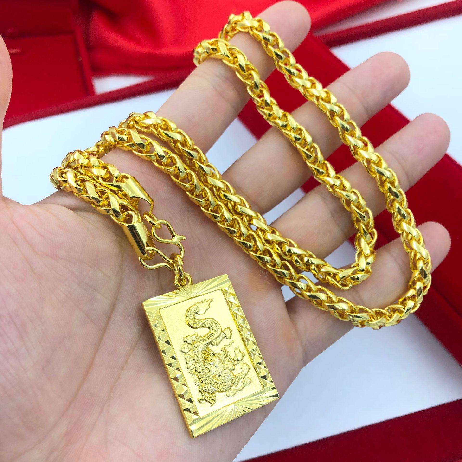 Deal tại Lazada cho Mặt Dây Chuyền Nam Thời Trang Rồng Nhả Ngọc 24k