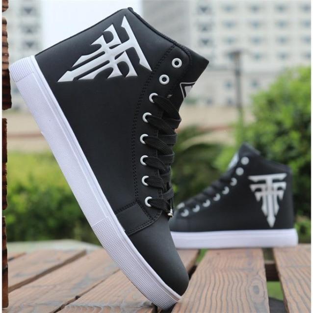 Giày nam cổ cao In logo Cây Thánh Giá cực cool ngầu - MinhNhat giá rẻ