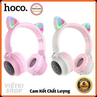 Tai Nghe Mèo Hoco Bluetooth 5.0 Tai nghe Hỗ trợ thẻ TF 3.5mm Siêu Dễ Thương Cho Bạn Gái thumbnail