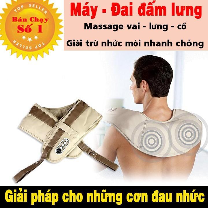 BẢO HÀNH 1 ĐỔI 1 - Đai massage lưng và vai trị liệu nhức mỏi chữa đau lưng và nhức mỏi vai nhập khẩu