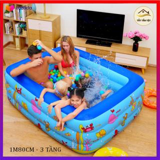 Bể bơi cho bé, hồ bơi cho bé, Bể bơi phao chống trơn Bể bơi, hồ bơi ,bể bơi , chất liệu PVC an toàn, đàn hồi cao, an toàn cho trẻ thumbnail