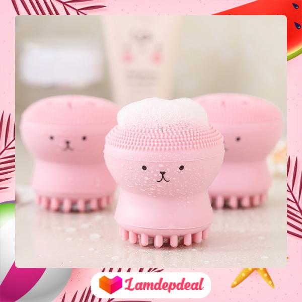 ♥ Lamdepdeal - Bàn chải rửa mặt Bạch Tuộc dễ thương - Cọ rửa mặt bạch tuộc làm sạch sâu lỗ chân lông, massage da nhẹ nhàng, làm sáng và trẻ hóa làn da