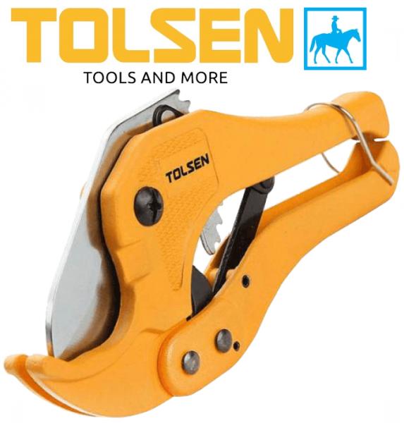 [Thu thập mã giảm thêm 30%] Dao kéo cắt ống nhựa 42mm dài 8inch 200mm pvc pipe cutter Tolsen 33000 chất liệu cao cấp bền bỉ chống va đập thiết kế chắc chắn đảm bảo an toàn cho người sử dụng