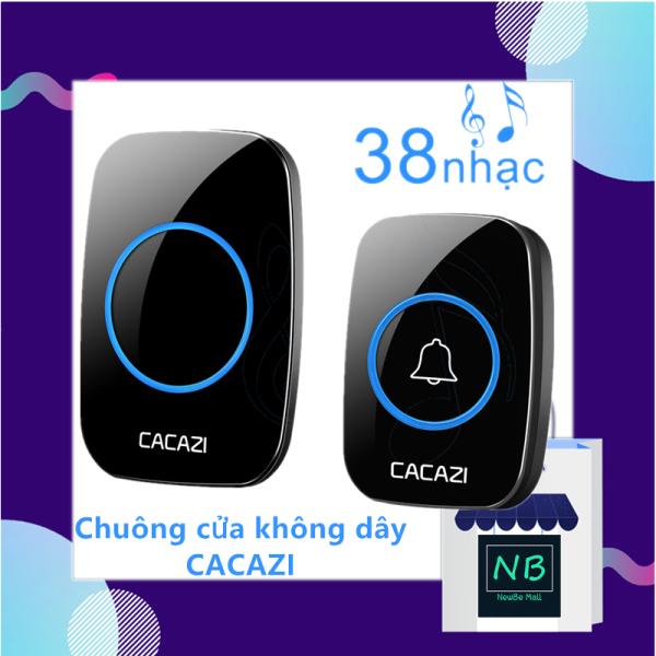 【New Be】Chuông cửa không dây Cacazi A10 khoảng cách 300m chống nước 38 kiểu chuông 3 mức âm lượng Thiết kế dễ lắp đặt