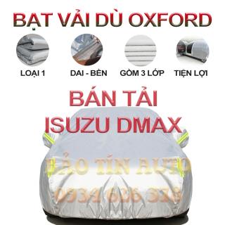 [LOẠI 1] Bạt che kín bảo vệ xe bán tải Isuzu Dmax 4,5 chỗ tráng bạc cao cấp, vải bông chống xước 3 lớp vải dù Oxford , bạt phủ trùm che nắng, mưa, bụi bẩn, áo chùm bạc trùm phủ xe oto ban tai Bảo Tín Auto thumbnail