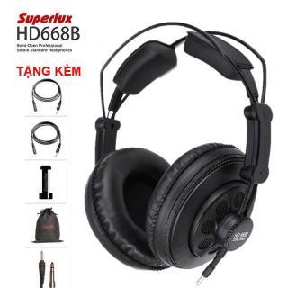 Tai nghe kiểm âm Superlux HD668B (Đen) - Hàng công ty nhập khẩu và phân phối - Bảo hành 6 tháng thumbnail