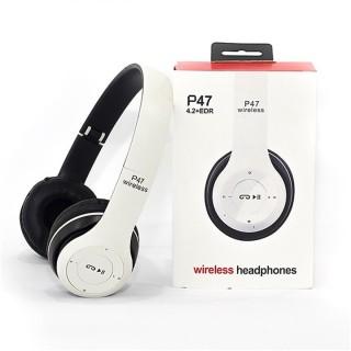 Tai Nghe Không Dây P47 - Kết Nối Bluetooth - Có Khe Cắm Thẻ Nhớ - K1007 thumbnail