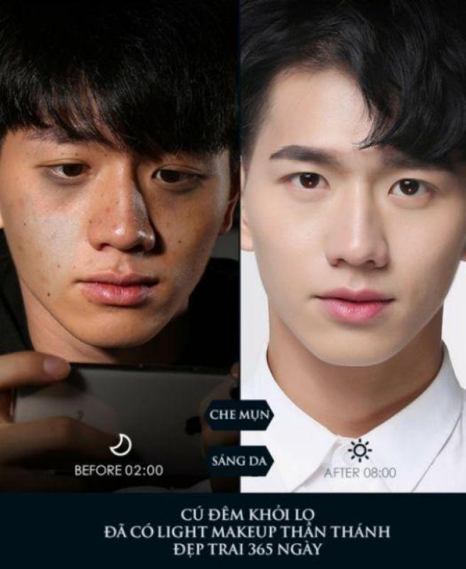 Kem nền, lót - Kem trang điểm, dưỡng ẩm, chống nắng đa năng Light Makeup cho nam