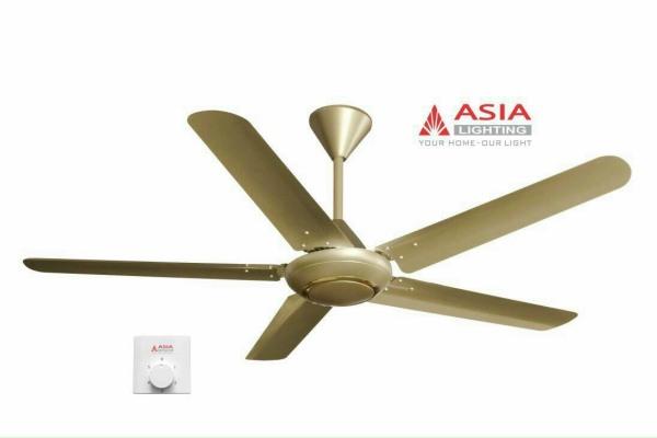 Quạt trần ASIA thiết kế mới hiện đại  4 màu tinh tế