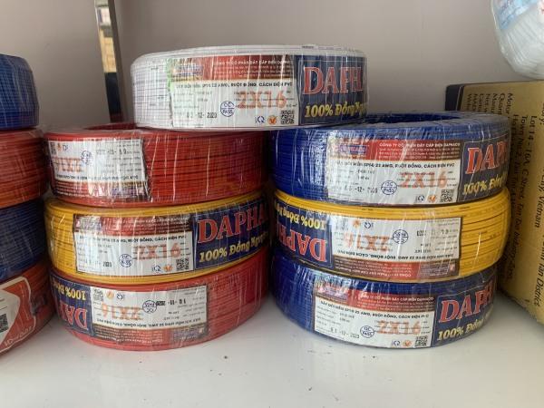 Bảng giá Dây điện đôi mềm 2x16 Daphaco -cuộn 100m -MÀU NGẪU NHIÊN