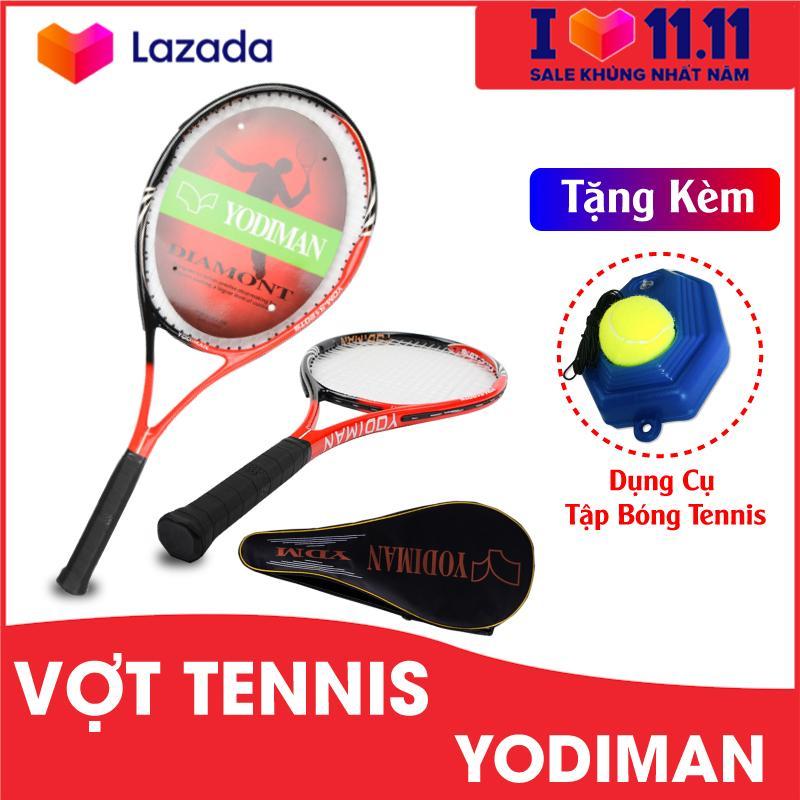Bảng giá Vợt Tennis dành cho người mới tập chơi tặng kèm dụng cụ tập bóng tennis