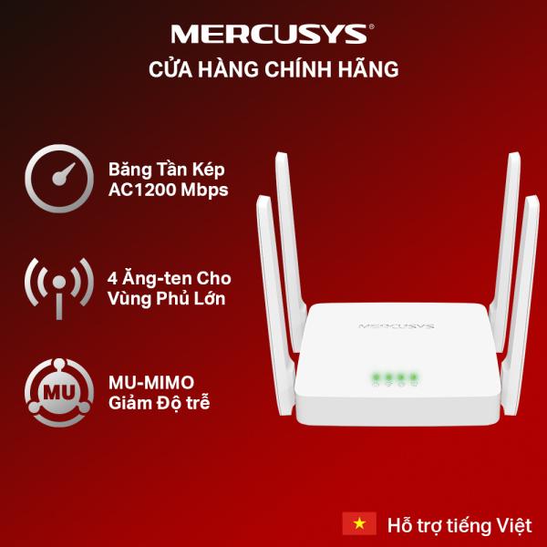 [🔥Bán Chạy🔥] Bộ Phát Wifi MERCUSYS AC10 Băng Tần Kép Chuẩn AC1200 - Hãng phân phối chính thức