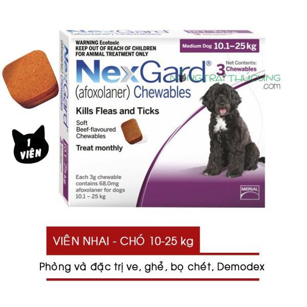 Viên nhai NexGard (01 Viên) Viêm Da, Ve, Ghẻ, Bọ Chét Trên Chó (10-25kg) - Nông Trại Thú Cưng