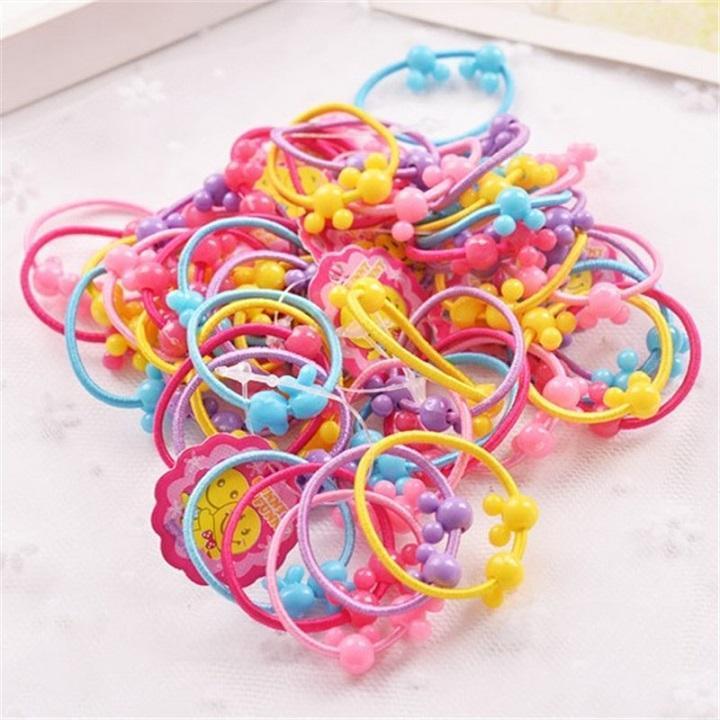 Giá bán SET túi  50 Chun Buộc Tóc Nhiều Màu cho bé