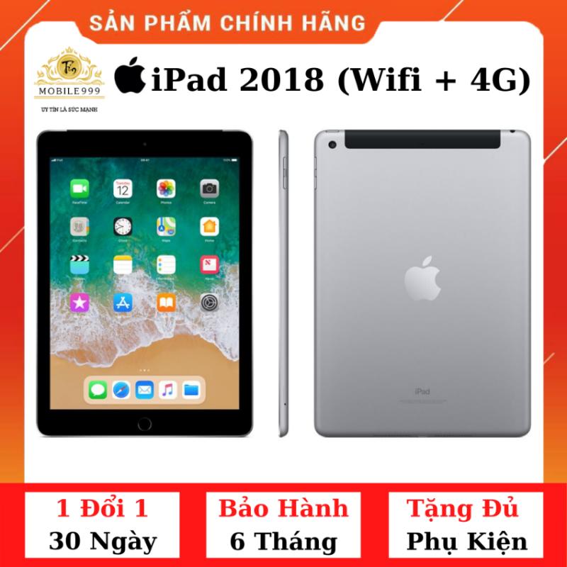 iPad 2018 Gen 6 (Wifi + 4G) 32GB Chính Hãng - Zin Đẹp - Màn Retina sắc nét - Tặng phụ kiện + Bao da - 1 đổi 1 30 ngày - BH 6 tháng - MOBILE999