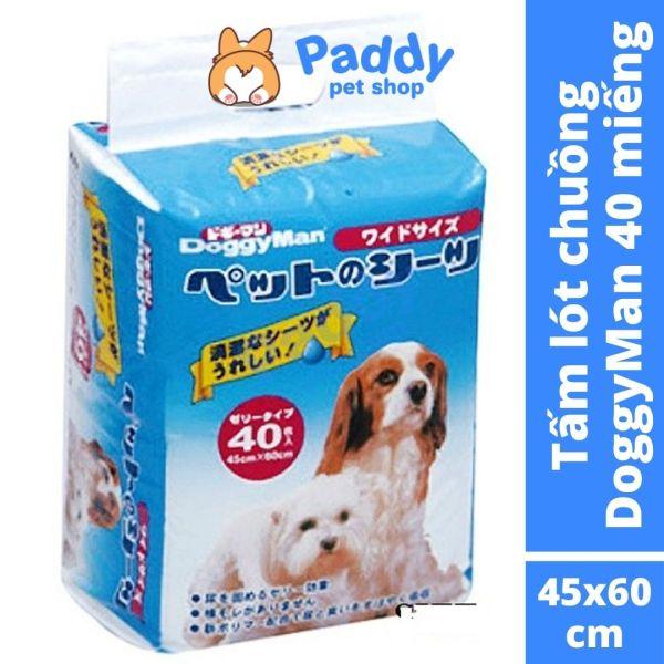 Tã Lót Chuồng Cho Chó Mèo DoggyMan Thấm Hút Mùi 72H (40M 45x60cm)