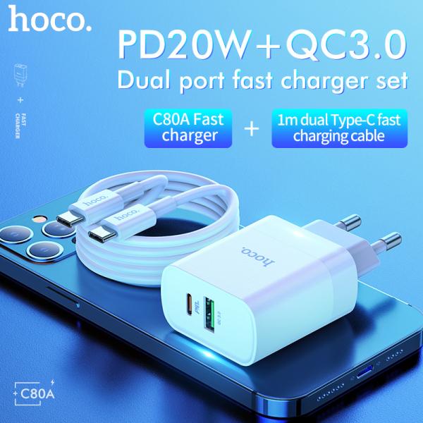 【 20W Sạc Nhanh 】HOCO Sạc Nhanh QC3.0 Sạc Adapter Đối Với SAMSUNG iPhone Realme 6 Pro Huawei Nova 7i SAMSUNG J7 A71 A10 Huawei Nova 5T Xiaomi Redmi Lưu Ý 9 VIVO OPPO
