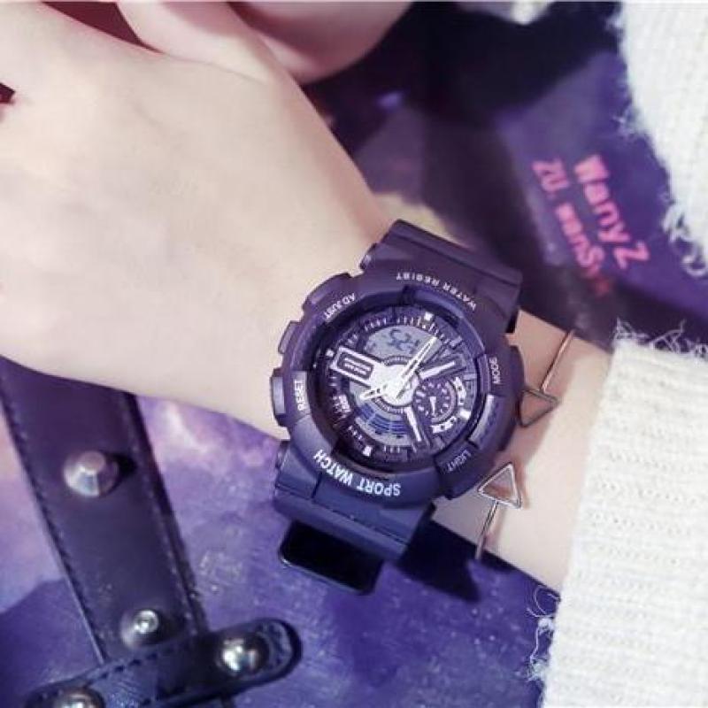 Đồng hồ thể thao nam nữ Shhors Sport watch dây cao su size