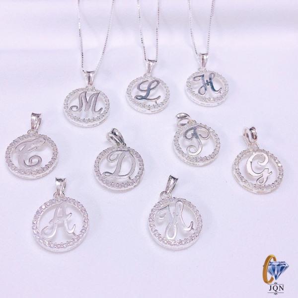Dây chuyền nữ bạc thật mặt chữ cái chất liệu bạc ta chuẩn sáng đẹp/ Trang sức bạc JQN gian hàng uy tín chất lượng