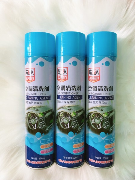 Combo 03 Bình xịt bọt khử mùi điều hòa ô tô Air Conditioner Cleaning Agent - Bình 650ml
