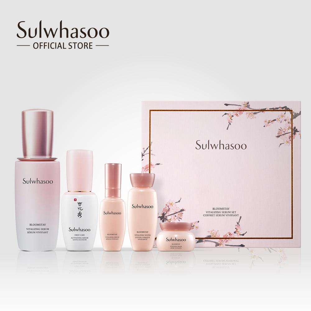 Bộ dưỡng da sáng hồng rạng rỡ Sulwhasoo Bloomstay Vitalizing Serum Set nhập khẩu