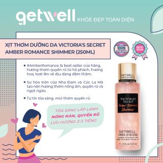 Xịt thơm kim tuyến Victoria s Seccret Shimmer Fragrance Mist -Amber Romance (250mL) thumbnail