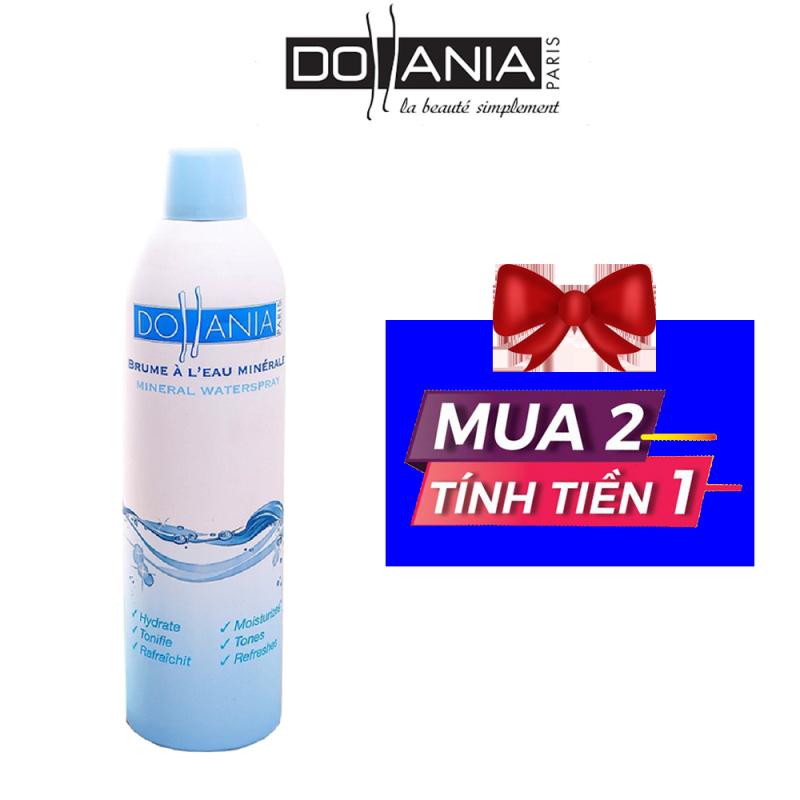 Xịt khoáng Dollania giúp dưỡng ẩm cấp nước và làm dịu làn da Brumisateur Eau Minerale  400ml - Date 11/2021 giá rẻ
