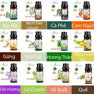 10ml Tinh dầu thiên nhiên nguyên chất Aromalife nhập khẩu Ấn Độ có chứng nhận tiêu chuẩn chất lượng, nhiều mùi lựa chọn Sả chanh, Cam, Bưởi, Bạc Hà, , Quế, ... thumbnail