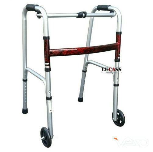 Khung tập đi bánh xe lớn Lucass W57 cho người già, người tai biến, chân thương chính hãng
