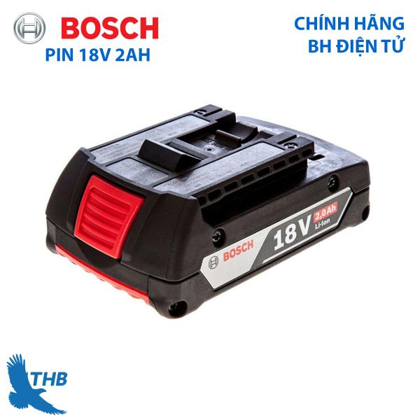 Pin cho dụng cụ điện Bosch 18V - 2Ah chính hãng bảo hành 6 tháng