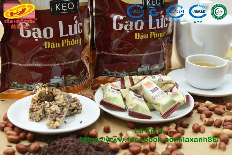 Kẹo Gạo Lức Đậu Phộng Tân Huê Viên