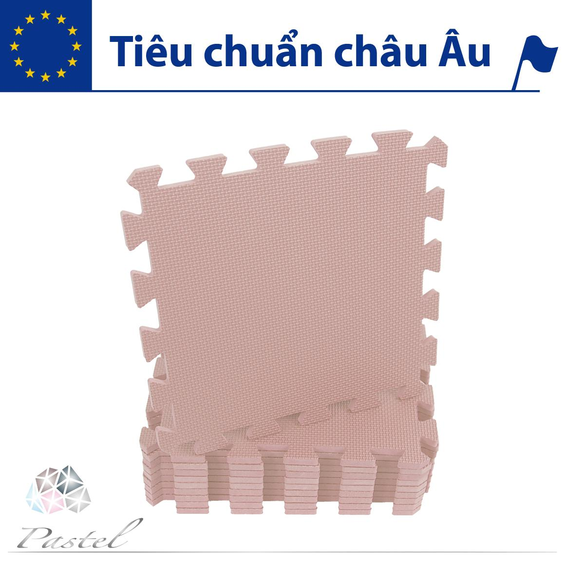 Thảm xốp lót sàn cho bé - đơn màu Pastel (10 miếng, diện tích 1m2) Smile Puzzle