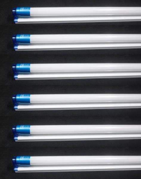 Combo 6 bộ bóng đèn led tuýp 22w 1.2m sáng trắng (gồm máng)