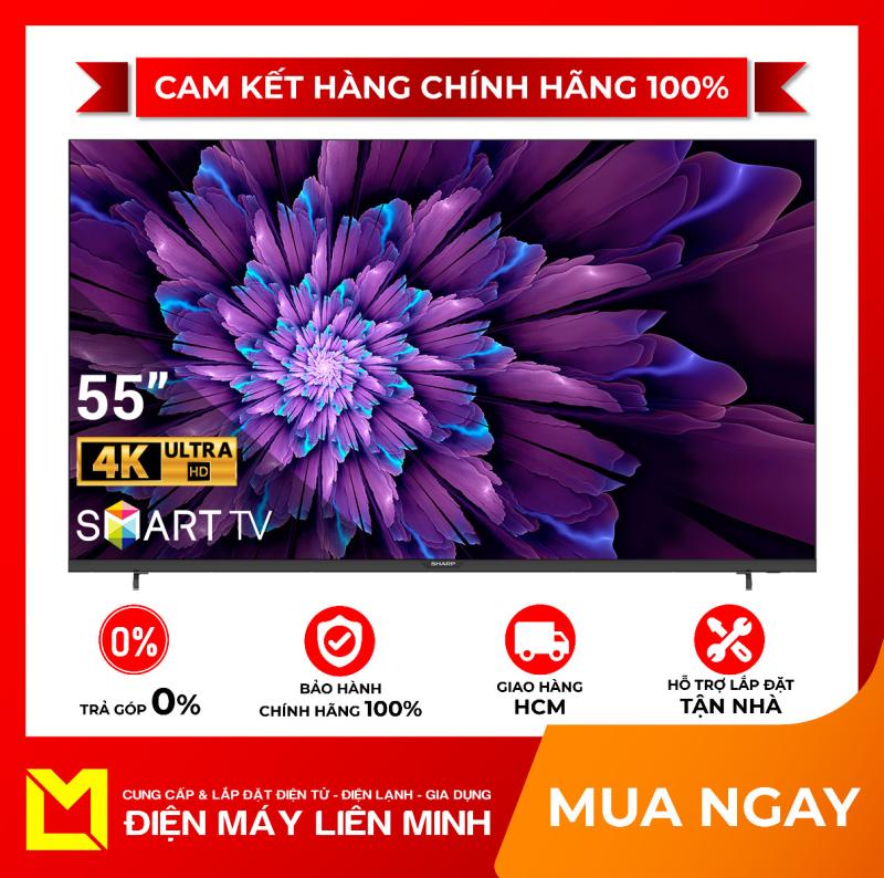 Bảng giá [HCM]Smart Tivi Sharp 4K 55 inch 4T-C55CJ2X  Kho ứng dụng phong phú: FptPlay Zing TV ClipTV... hỗ trợ Youtube - Netflix... Cổng kết nối đa dạng: HDMI x 2 USB x 2 LAN Optical VGA Audio out AV in - giao hàng miễn phí HCM