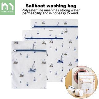 Homenhome lưới túi giặt polyester có khóa kéo, máy giặt